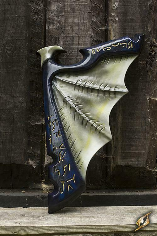 Foam Latex Elven Wing Shield Perfekt för LARP Cosplay Costume and Safe Play