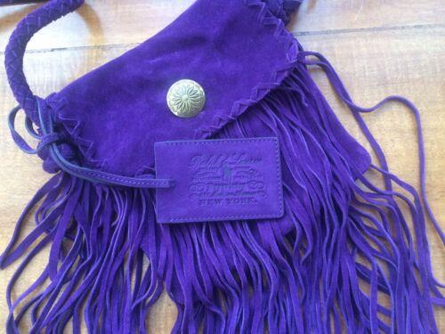 Purple Fringed Cross Suede Body Polo Stunning Ralph Bag Lauren qOTAO7