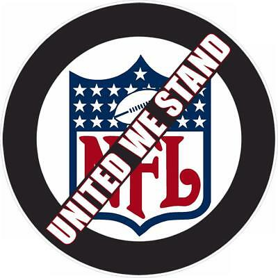 11 inch circle decal sticker window truck protest boycott NFL STAND