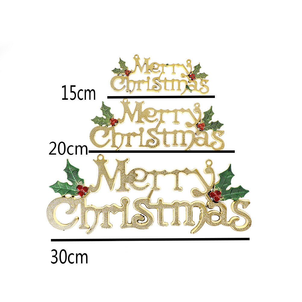 Merry Christmas Word Tree Hanging Ornaments Door Decorations Home Party Qr9 E