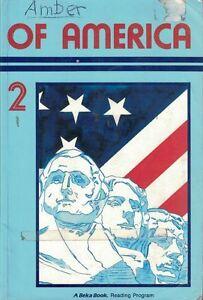 A-Beka-Reader-Of-America-2-6th-Grade-Christian-Homeschooling-Copyright-1987