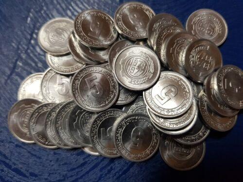 COINS ALGERIA 10 x 5 CENTIMES 1974 KM # 106 DEALER LOT 10 HIGH GRADE FAO F.A.O