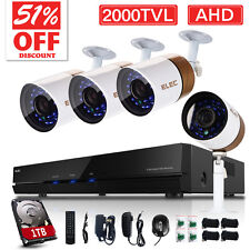ELEC 8CH 1080N 2000TVL CCTV DVR Outdoor IR-CUT Home Security Camera System 1TB