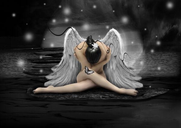 Babette   ange tableau prêt 60x80 Tableau mural ange