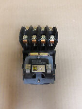 Square D 4 POLE LIGHTING CONTACTOR 8903L004 30 AMP 600V 120V COIL