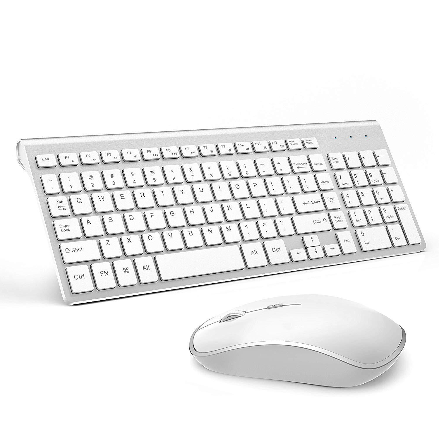 048430261db Wireless Keyboard And Mouse Bundle Combo Set For Mac Apple Full Size 2.4G  Slim