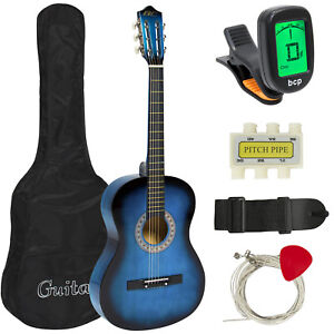 New-Beginners-Acoustic-Guitar-With-Guitar-Case-Strap-Tuner-and-Pick