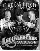 Stooges - Knuckleheads Garage Vintage Style Metal Signs Man Cave Garage Decor 69