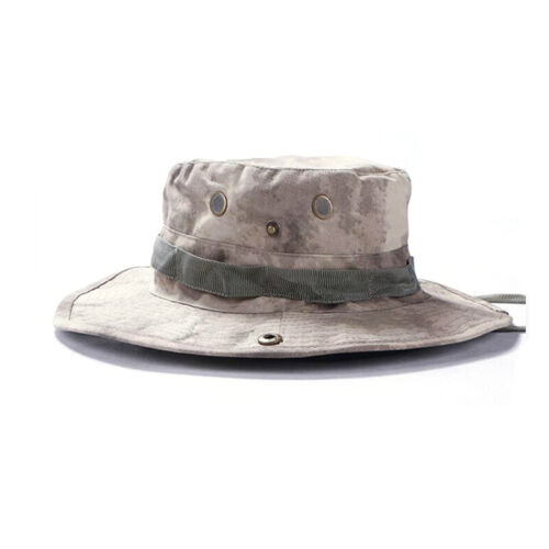 Tactical Boonie Hat Military Combat Camo Bucket Wide Brim Sun Fishing Cap Unisex
