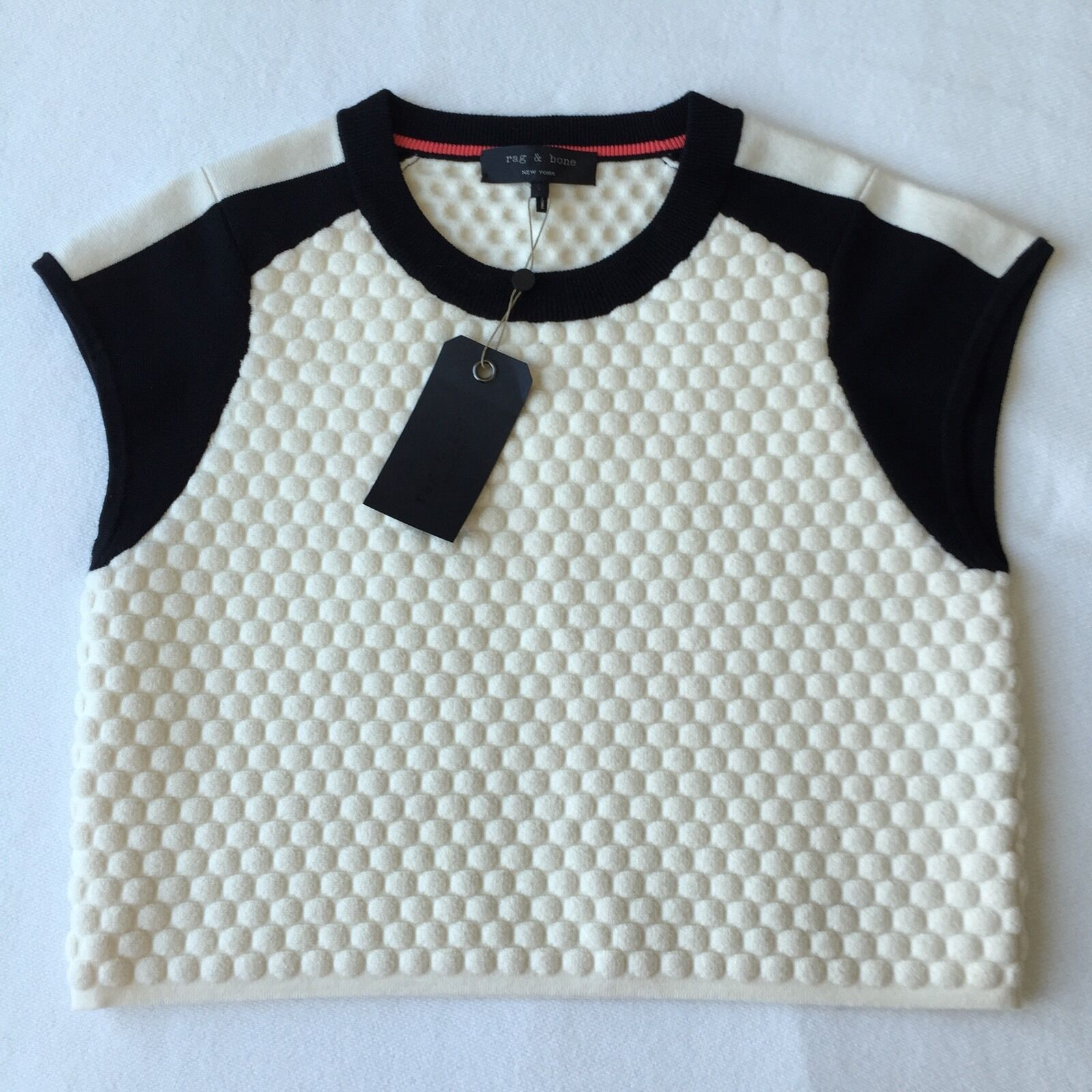 (NWT)Rag & Bone Alpine Weiß Kelsie Crop Top