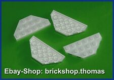 Lego 4 x Flügel weiß (3 x 6) Platte - 2419 - Wedge Plate White - NEU / NEW
