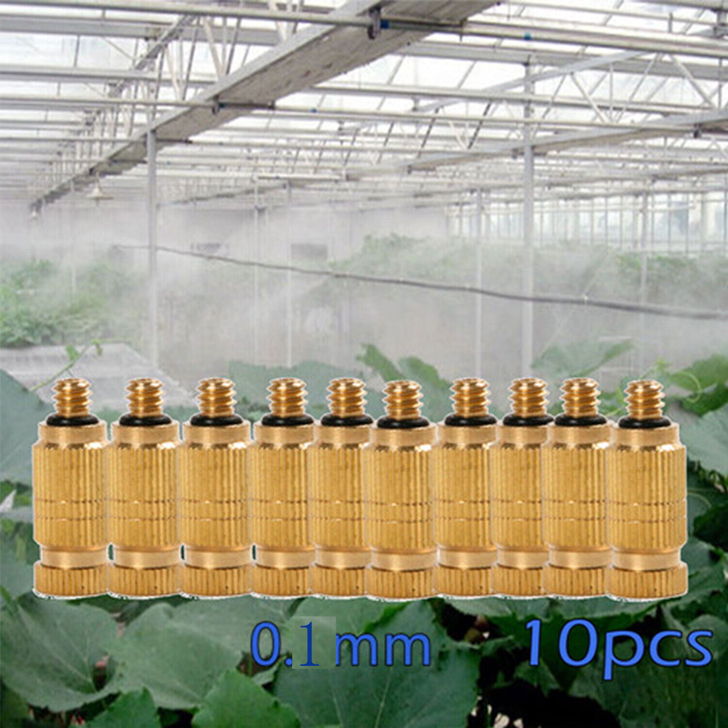 10x Brass Fogging Nozzle Misting Nozzles 0.1mm for Cooling Systems Sprayer Part