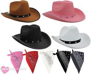 Caricamento dell immagine in corso Cappello-da-cowboy -e-Paisley-Bandana-Selvaggia-Western- b03f88fcf082