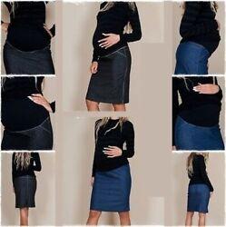 Umstandsmode Umstandsrock  Rock Jeansrock Jeans 34,36,38,40,42,44,46