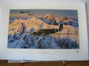 Special-Duties-Junkers-Ju52-Me109-Robert-Taylor-6-Signed-Aviation-Art