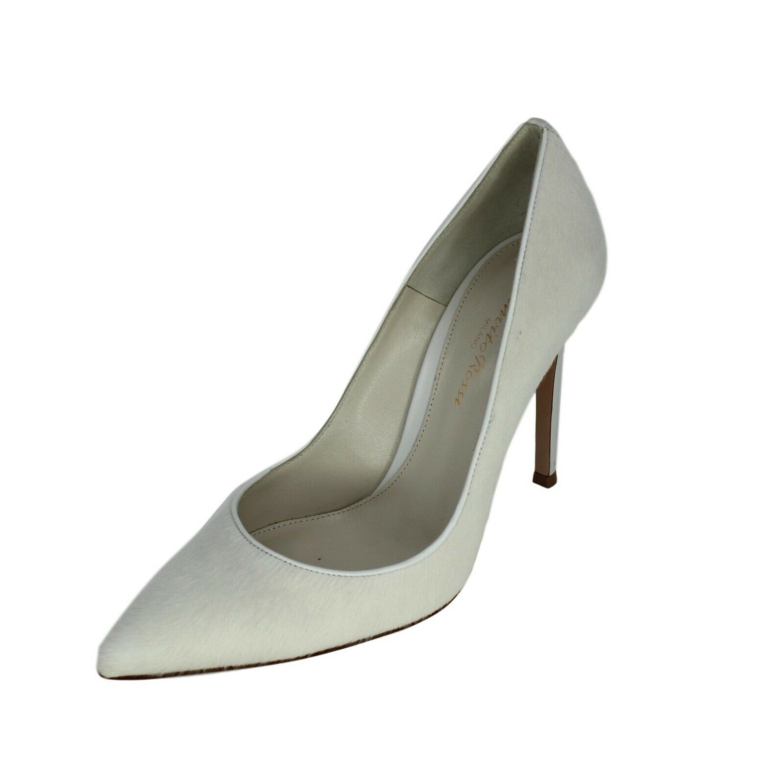 GIANVITO ROSSI White Pony Hair Point-Toe Pumps - US 6.5 - Retail  795