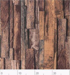 Dekostoff-bedruckt-Rips-Swafing-Tango-Holzoptik-Braun-Rest-35x140-cm