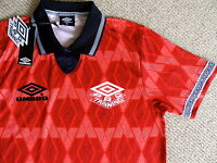 S M L XL UMBRO RETRO 1990 PRO TRAINING FOOTBALL SHIRT Jersey Soccer Tags England