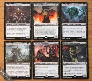 6x-Dominaria-Legendary-Black-Creatures-Lot-of-6-NM-Magic-MTG-Commander-EDH