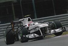 Kamui Kobayashi Hand Signed 12x8 Photo Sauber F1 5.