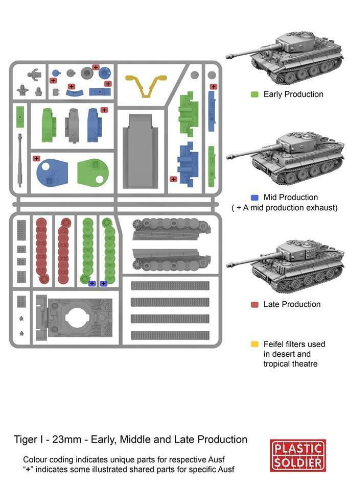 PSC GERMAN PANZER TIGER I TANK – 1 QUICK BUILD TANK – 1:72 Scale Model Kit