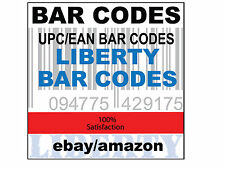 50000 UPC EAN Numbers GS1 Barcodes Bar Codes Code Amazon eBay