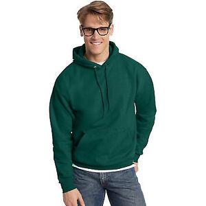 1 Denim Blue Hanes P170 Mens EcoSmart Hooded Sweatshirt Medium 1 Deep Forest