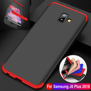For-Samsung-Galaxy-J4-J6-Plus-A7-360-Full-Protective-Case-Cover-Tempered-Glass