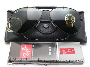 1fd2dcad78 ray ban rb3030 l9500 outdoorsman black frame green 58 g 15 lens sunglasses  new