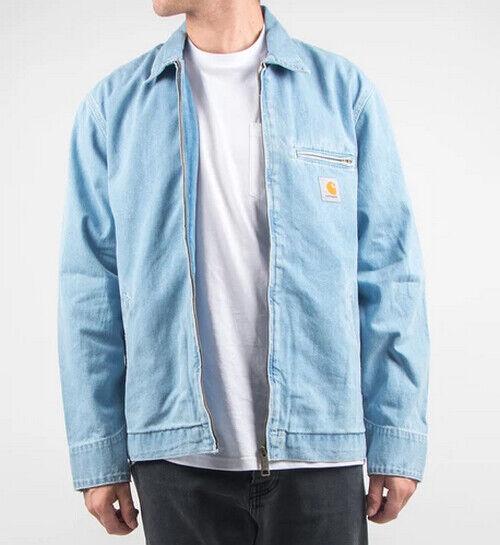 Jacke Jacket Herren Carhartt Detroit Jacket ( Blau Stein Bleached) Größe S Wert