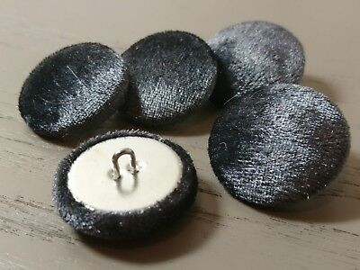 37mm Small 31mm Large 25mm Black Chenille Fabric Buttons Medium 20mm 16mm