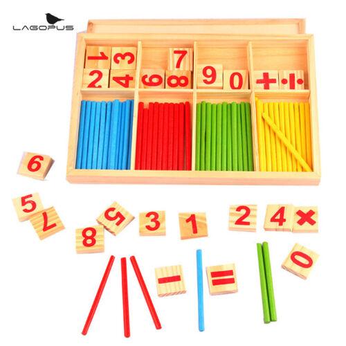 Montessori Math Spielzeug aus Holz Anzahl Math Spiel pädagogisches Spielzeug