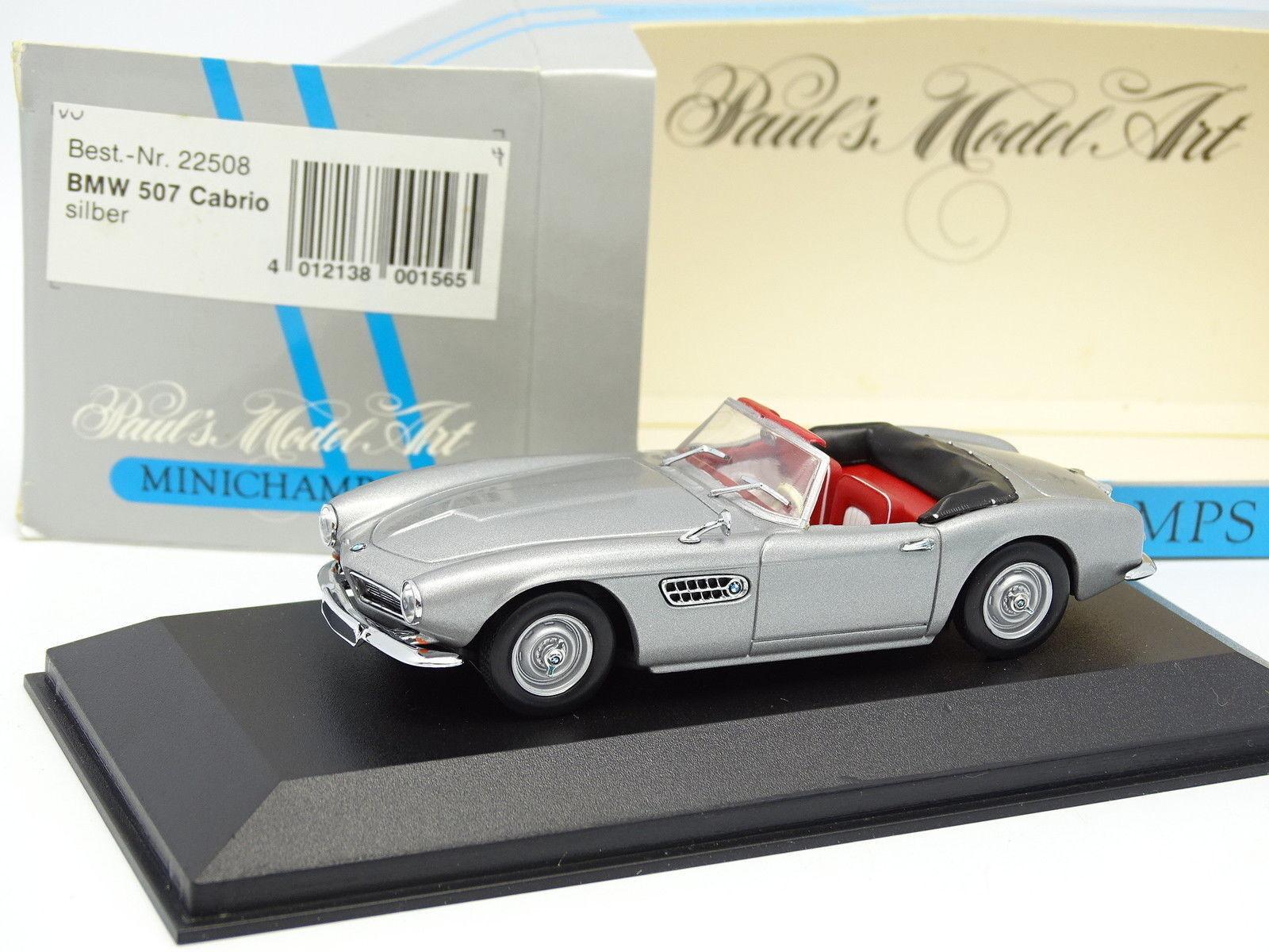 Minichamps 1 43 - BMW 507 Cabrio argento