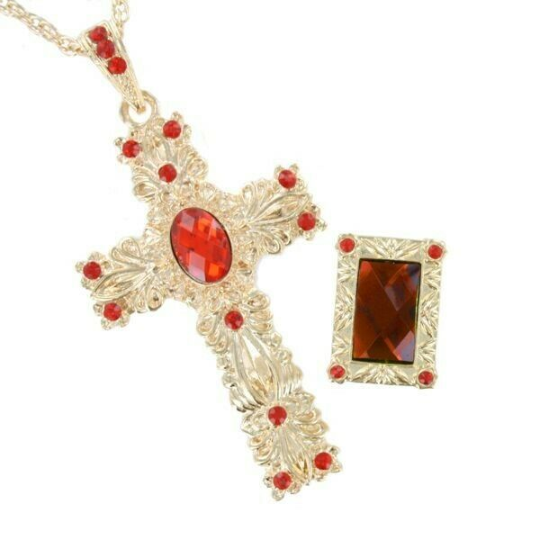 Pope / Cardinal Jewellery Set Theatrical Quality Cross & Ring