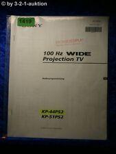 Sony Bedienungsanleitung KP 44PS2 / 51PS2 100Hz Projection TV (#1419)