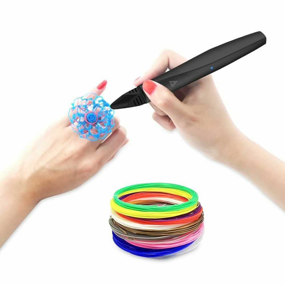 3D Printing Pen With Filament Consumable Drawing Scribble Crafting DIY Sketching