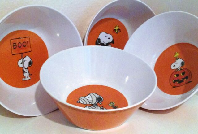 Snoopy Pottery Barn Kids Peanuts Halloween Bowls Set Of 4