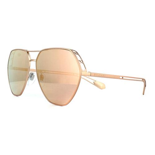 Bvlgari Sunglasses BV6098 20134Z Matte Gold Grey Rose Gold Mirror