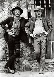Butch Cassidy and the Sundance Kid Paul Newman Robert Redford Pose Poster