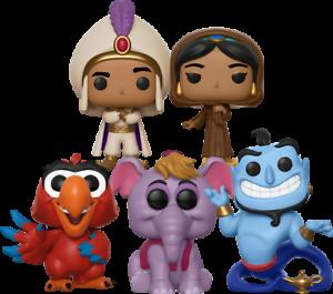 Disney Aladdin 5 Set Funko Pop Vinyls Bundle New in Boxes