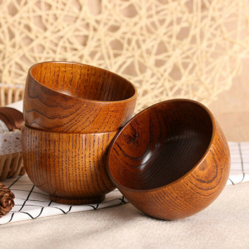 Craft Wooden Bowl Creative Soup Rice Jujube wood Tableware Salad Fruit