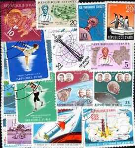Haiti Collections De 25 à 500 Timbres Différents Suppression De L'Obstruction