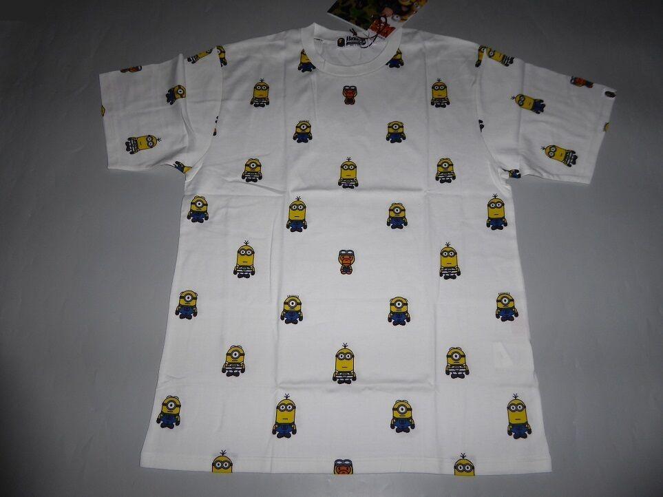 14311 bape minions pattern tee XXL