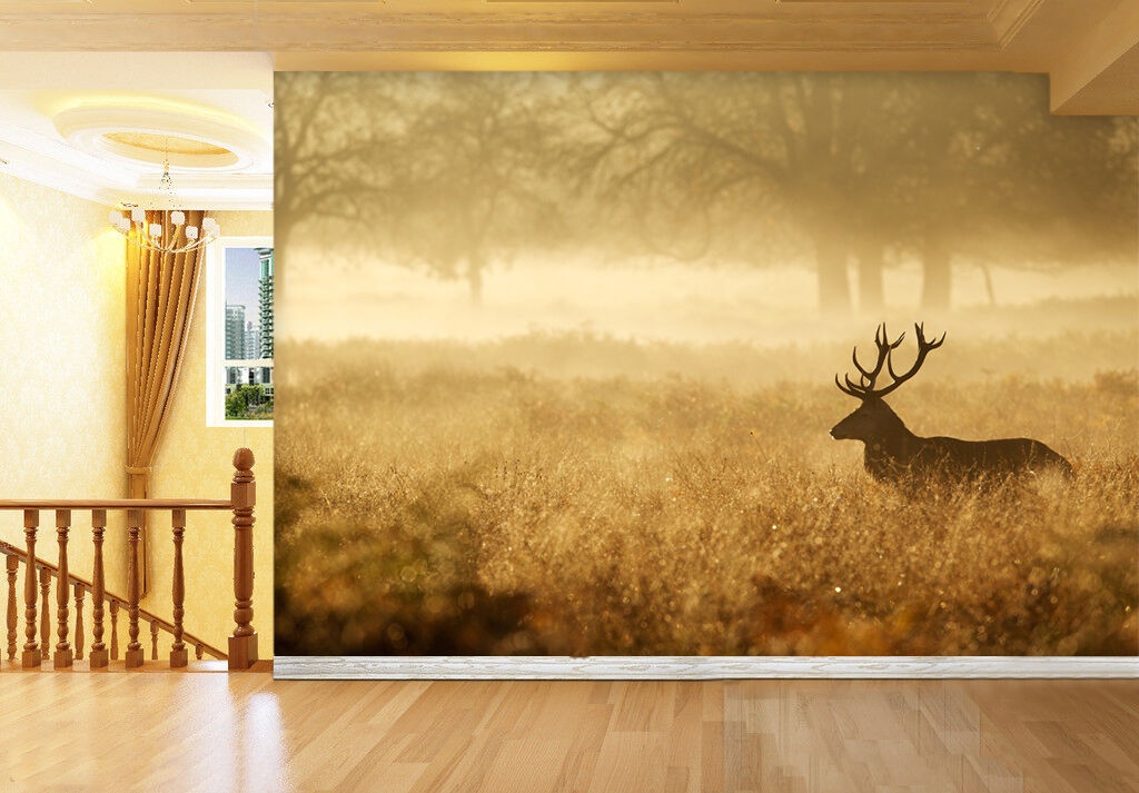 3D Wild Deer 887 Wall Paper Wall Print Decal Wall Deco Indoor Wall