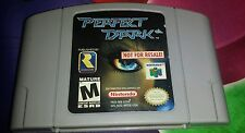 Perfect Dark Not For Resale N64 Nintendo 64 With Back Sticker