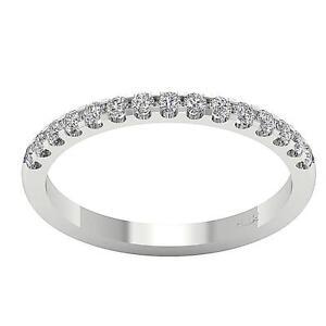 VVS-VS-SI-I1-0-40Ct-Real-Diamond-14Kt-Gold-Half-Eternity-Stackable-Wedding-Ring