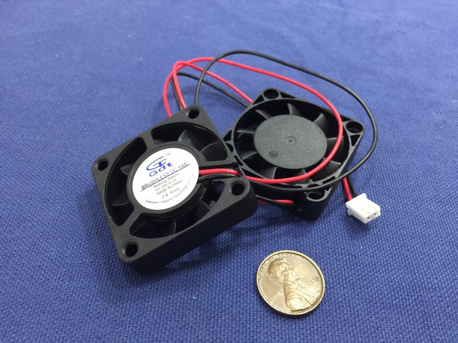 2 pcs 4010 Fan 24V 40x10 40mm reprap Dual Extruder Cooling USA 3d printer B20