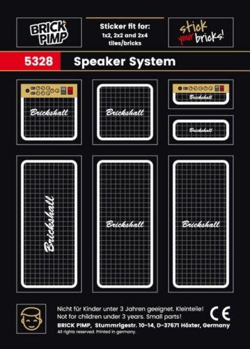 plates ❤️ Speaker Boxen System ❤️ STICKER ❤️ fit for LEGO® tiles 5328