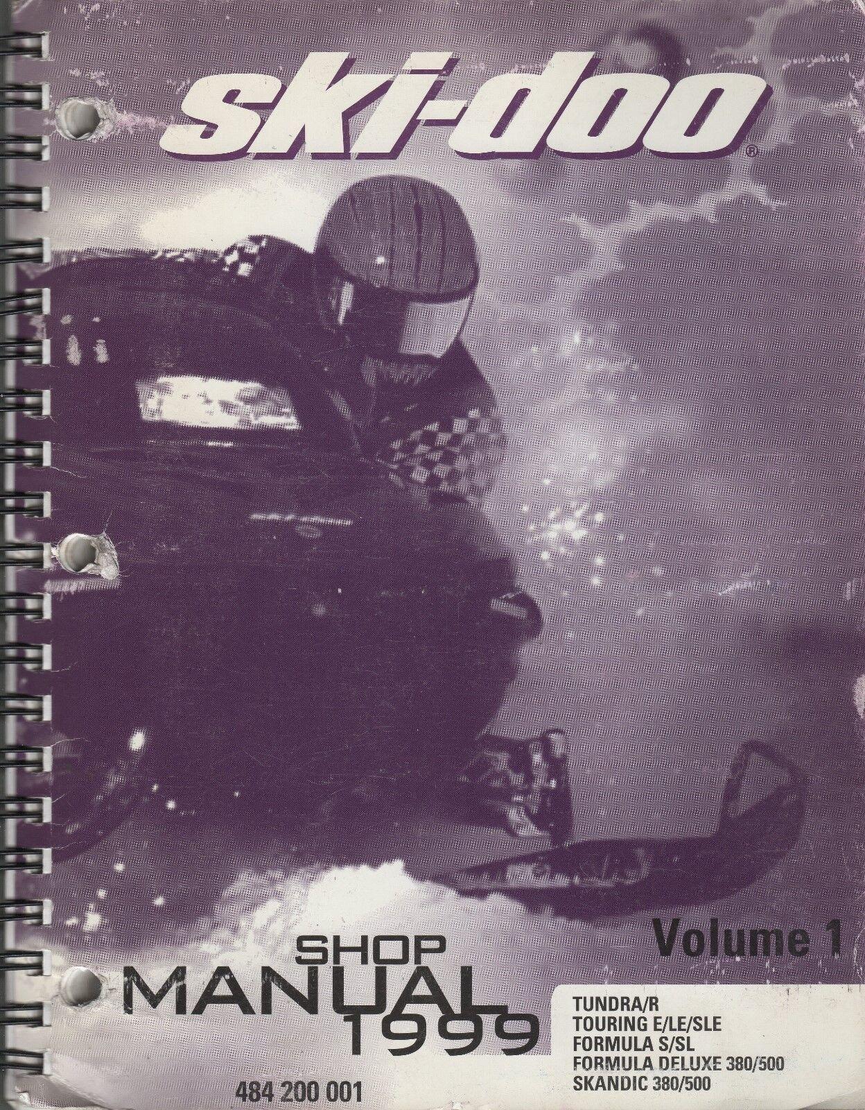 1999 SKI-DOO SNOWMOBILE VOLUME 1 (SEE COVER LIST) SHOP MANUAL 484 200 001 (153)