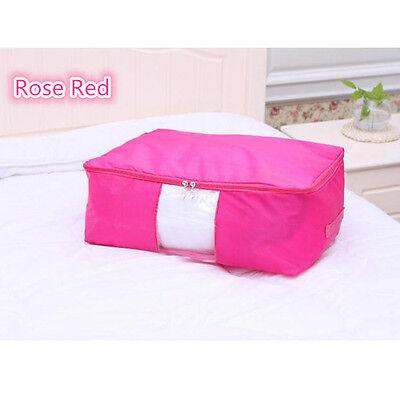 Foldable Storage Bag Clothes Blanket Quilt Closet Bedding Organizer Box Pouch HO